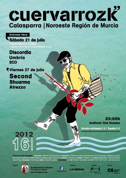 Discordia, Umbría, ECO | Second, Shuarma, Atrezzo · Cuervarrozk 2012 Festival de Rock Calasparra Murcia