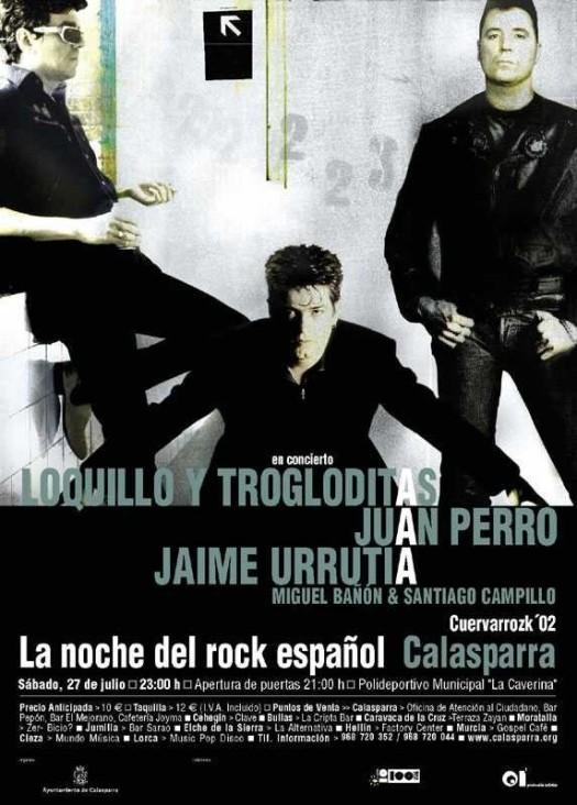 Loquillo y Trogloditas, Juan Perro, Jaime Urrutia, Miguel Bañón & Santiago Campillo · Cuervarrozk 2002 Festival de Rock Calasparra Murcia