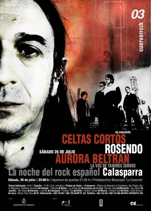 Celtas Cortos, Rosendo, Aurora Beltrán, La Voz de Tahures Zurdos · Cuervarrozk 2003 Festival de Rock Calasparra Murcia