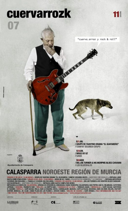 El Guayabero, Compay Segundo grupo | Mago de Oz, Savia | Big Joe Turner & His Memphis Blues Caravan, Los Bluesfalos · Cuervarrozk 2007 Festival de Rock Calasparra Murcia