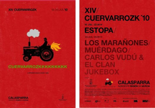 Estopa, Los Marañones, Muérdago, Carlos Vudú & El Clan, Jukebox · Cuervarrozk 2010 Festival de Rock Calasparra Murcia