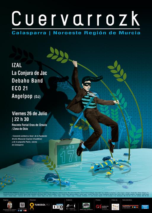 Izal, La Conjura de Jac, Debaho Band, ECO 21, Angelpop DJ · Cuervarrozk 2013 Festival de Rock Calasparra Murcia
