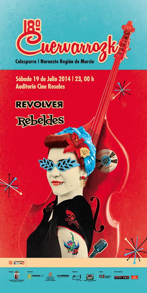 Revolver · Rebeldes · Cuervarrozk 2014 Festival de Rock Calasparra Murcia