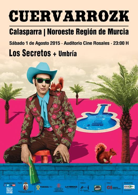 Los Secretos · Umbría · Cuervarrozk 2015 Festival de Rock Calasparra Murcia