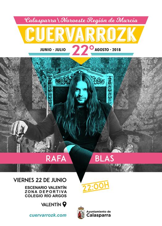 Rafa Blas en Cuervarrozk 2018 Festival de Rock Calasparra Murcia