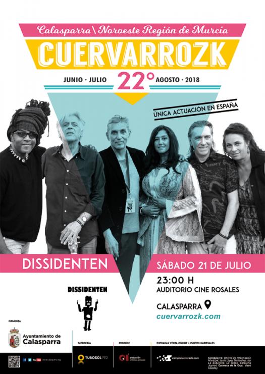 Dissidenten · Cuervarrozk 2018 Festival de Rock Calasparra Murcia