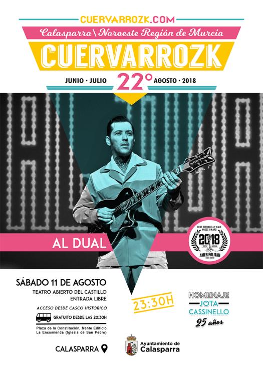 Al Dual en Cuervarrozk 2018 Festival de Rock Calasparra Murcia