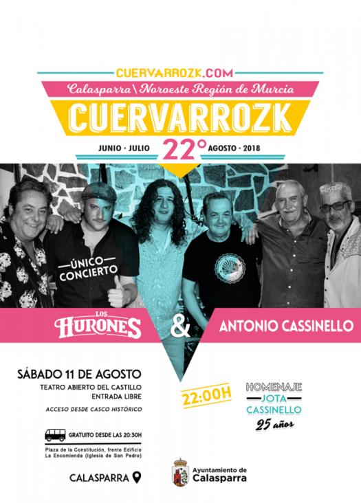 Los Hurrones y Antonio Cassinello · Cuervarrozk 2018 Festival de Rock Calasparra Murcia