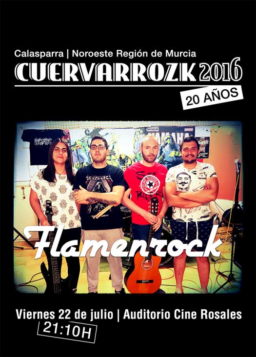 Flamenrock · Cuervarrozk 2016 Festival de Rock Calasparra Murcia