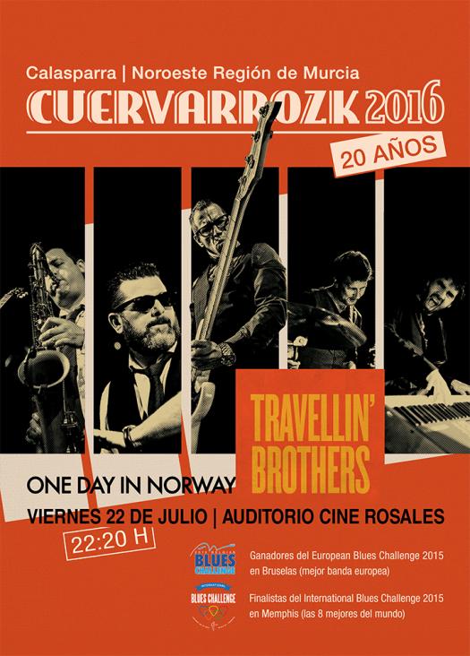 Travellin'Brothers · Cuervarrozk 2016 Festival de Rock Calasparra Murcia