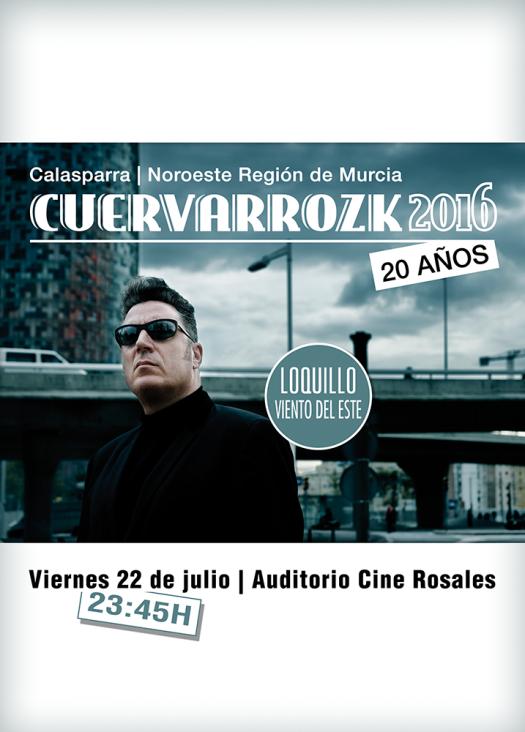 Loquillo · Cuervarrozk 2016 Festival de Rock Calasparra Murcia