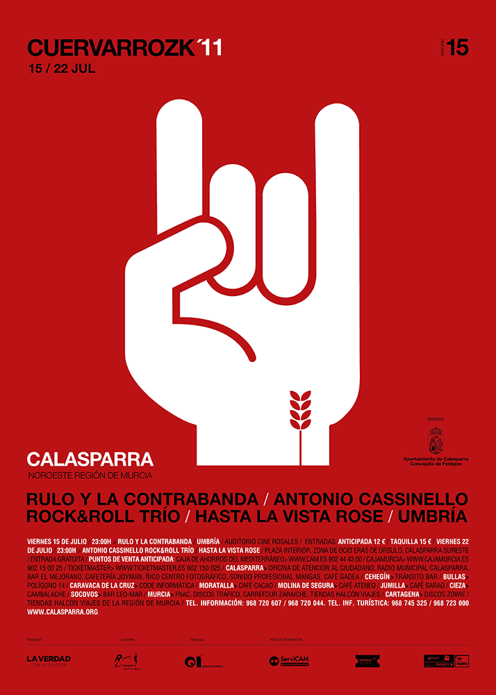 Rulo y la Contrabanda, Antonio Cassinello, Rock& Roll Trío, Hasta la vista Rose, Umbría · Cuervarrozk 2010 Festival de Rock Calasparra Murcia